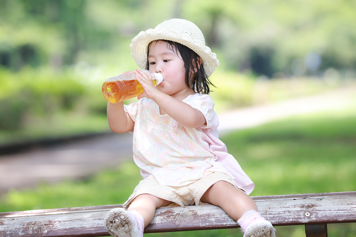 ミネラル水素水で水出し麦茶
